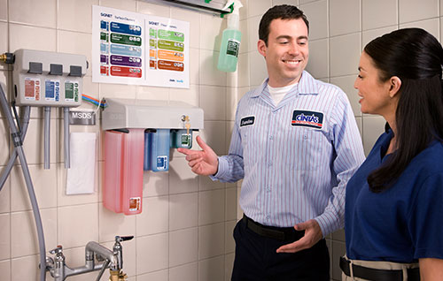 Chemical Cleaning Services : Neutral disinfectant cleaner cintas